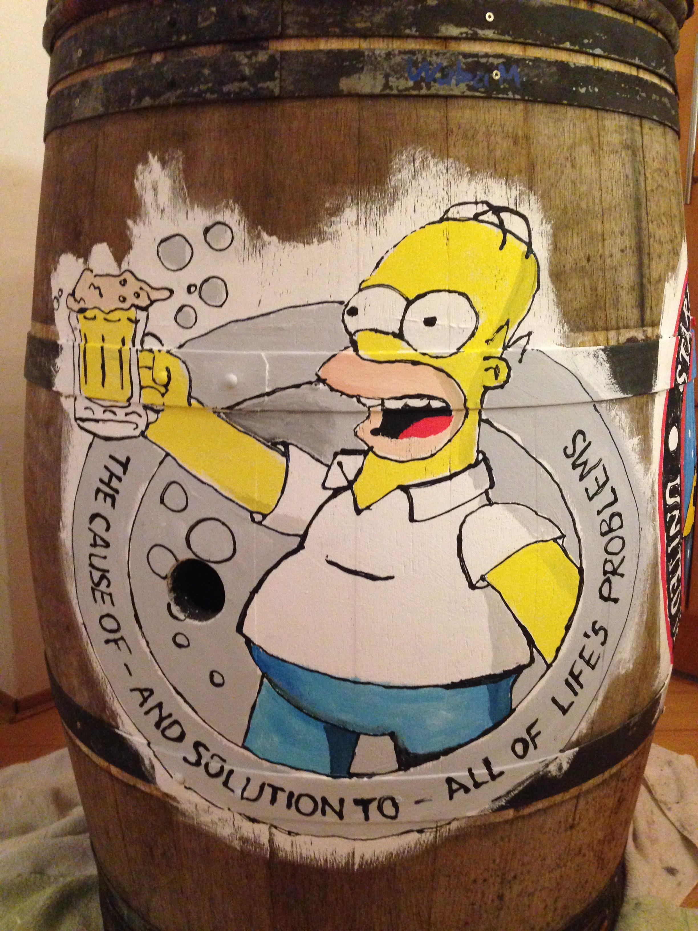 Homer auf Fass